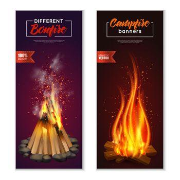 Bonfire Vertical Banners Set