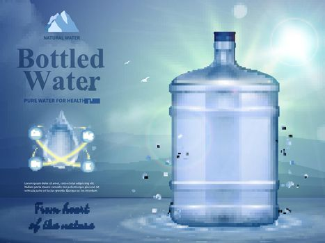 Bottled Water Advertising Composition