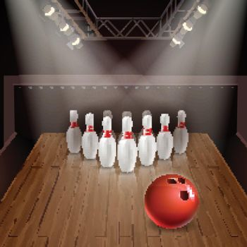 Bowling 3D Illustration