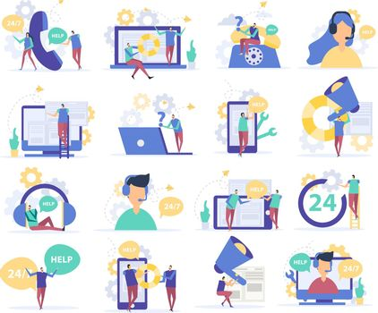 Customer Support Flat Icons