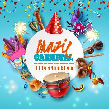 Brazil Carnaval Frame