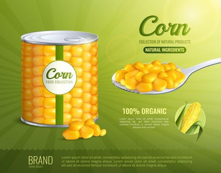 Corn Advertising Composition