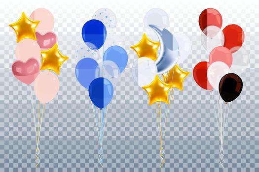 Party Balloons Transparent Set