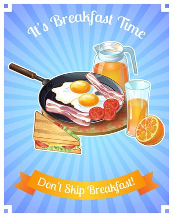 Colored Breakfast Poster