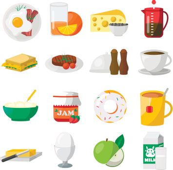 Breakfast Colorful Icons