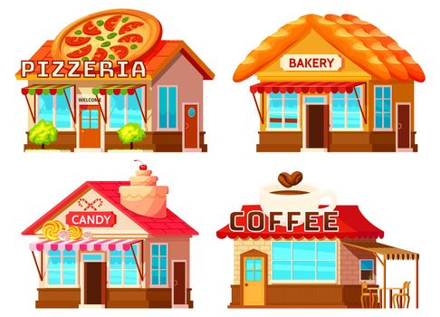 Country Shop Storefronts Set