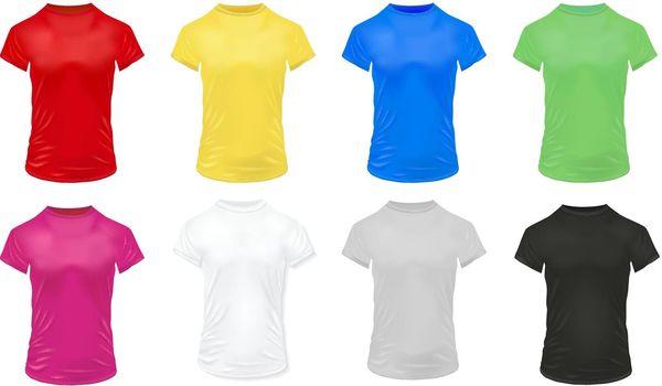 Colorful Sports Shirts Icon Set