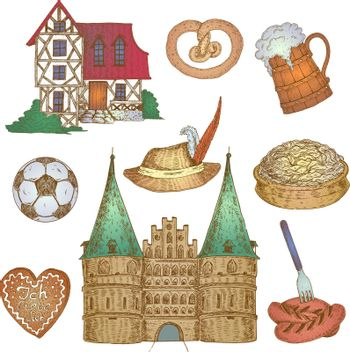 Colorful Germany Icon Set