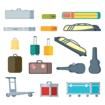 Colorful Baggage Collection