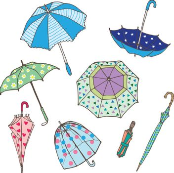 Colorful Umbrellas Collection