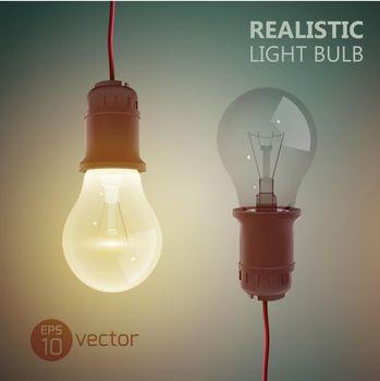Realistic Filament Bulbs Background