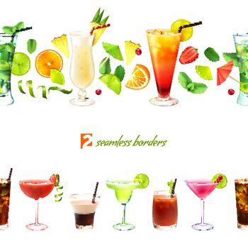Cocktail seamless border