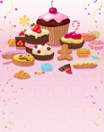 Colorful Pastry And Confectionery Template