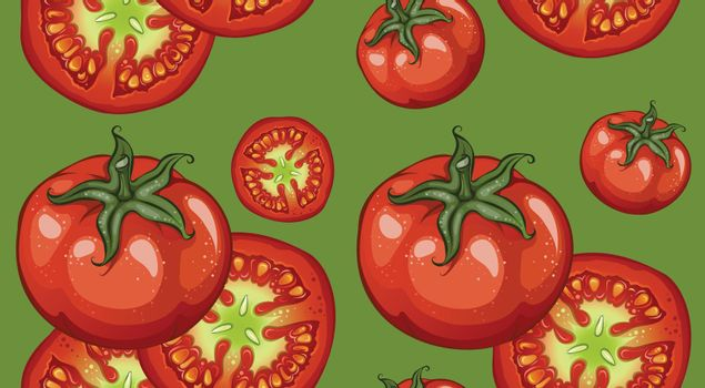 Colorful Drawing Vegetables Pattern