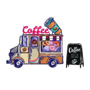 Coffee Shop Outdoor Composition