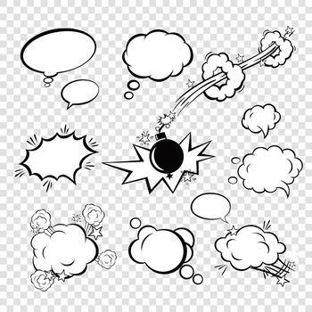 Comic set bubbles
