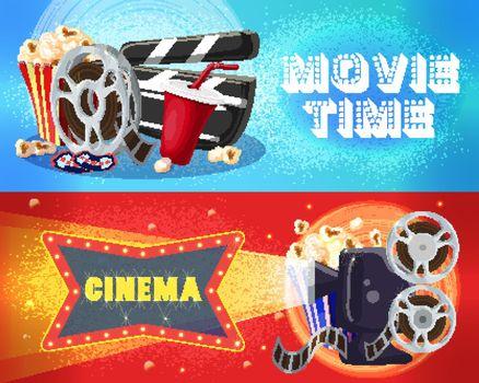 Bright Cinema Horizontal Banners