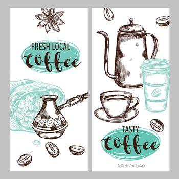 Coffee Packaging Banner Set