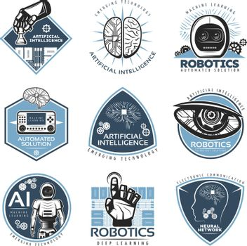 Colorful Futuristic Innovations Labels Collection