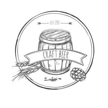 Craft Beer Sketch Concept