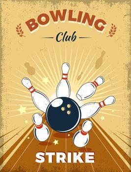 Bowling Club Retro Style Design