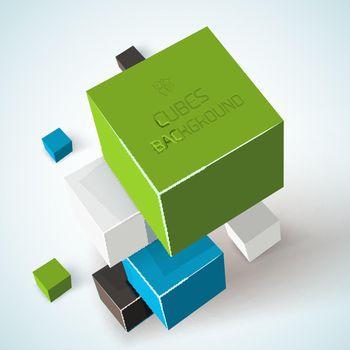 Cubes Geometric Composition