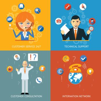 Technical Support and Customer Service Icons