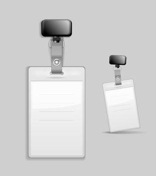 Blank identification card Badge ID template