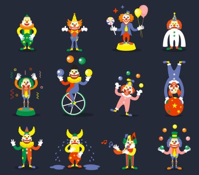 Clown vector characters