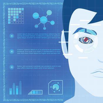 Eye Biometrics Scanner Technology Graphic Design
