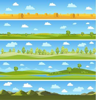 Country landscapes set