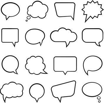 Speech bubbles for infographics