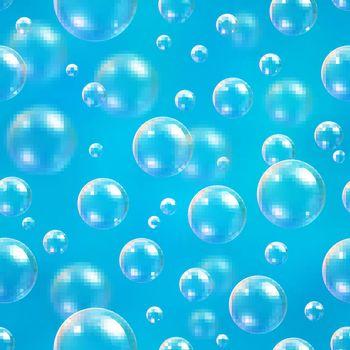 Bubbles blue blur background