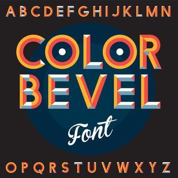 Color Bevel Vintage Font Poster