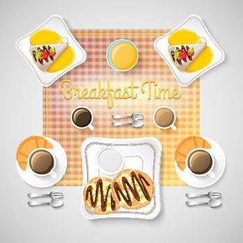 Sweet Breakfast Food Concept