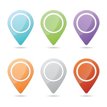 Colorful Checkpoint Icon Website Set