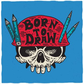 Born To Draw Poster