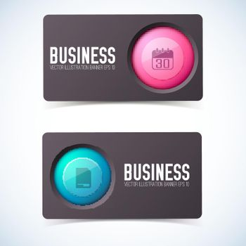 Business Card Banners Set