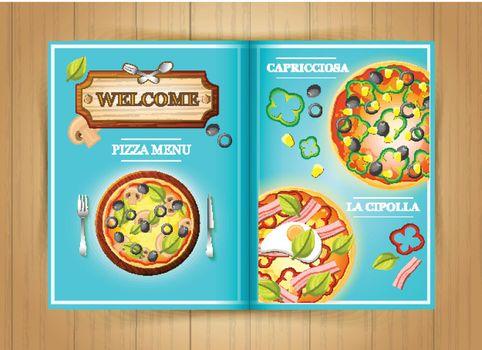 Italian Restaurant Pizza Menu Brochure