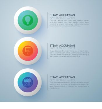 Colorful Futuristic Buttons Background