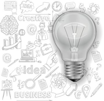 Creative Background With Lightbulb