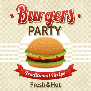 Burger Party Poster