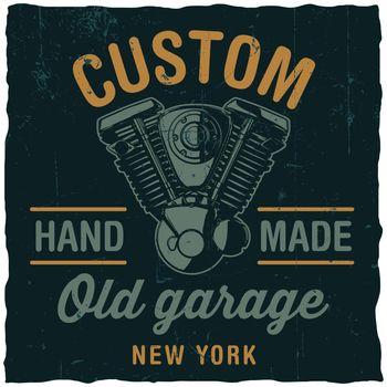 Custom Old Garage Poster