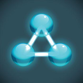 Bright Molecule Structure Template