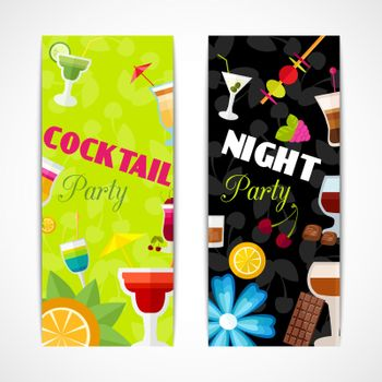 Cocktails banner vertical