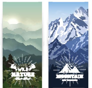 Vertical Mountains Banners