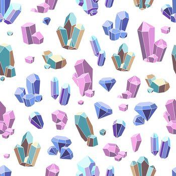 Crystal Minerals Seamless Pattern