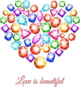 Gemstones Heart Shape