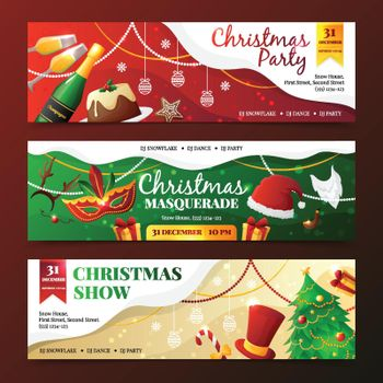 Christmas Party Invitation Banners