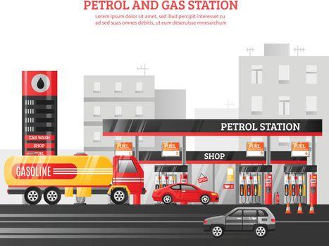 Gas And Petrol Station Illustration